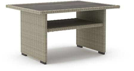 Signature Design by Ashley Silent Brook P443625 Outdoor Patio Table Cream, Main Image