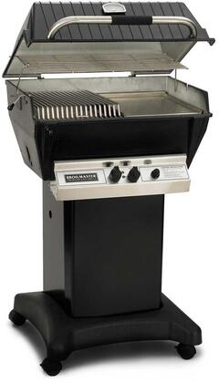 27″ Freestanding Liquid Propane Grill with 695 sq. in. Cooking Surface  40000 BTU Total Output  2 Bowtie Burners  Warming Rack  and Aluminum