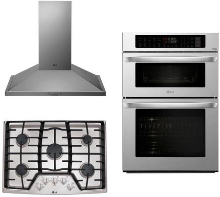 LG  1135504 Kitchen Appliance Package Stainless Steel, main image