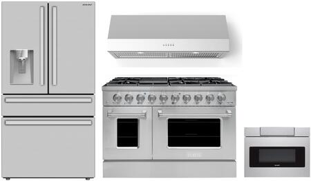 SHARP  1500894 Kitchen Appliance Package Stainless Steel, Main Image