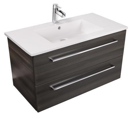 Cutler Kitchen and Bath Silhouette FVZAMBUKKA36 Sink Vanity Brown, Main Image