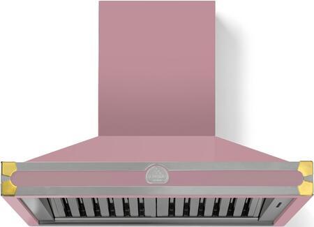 La Cornue CornuFe H9TF Wall Mount Range Hood Pink, Liberte with Brass Trim