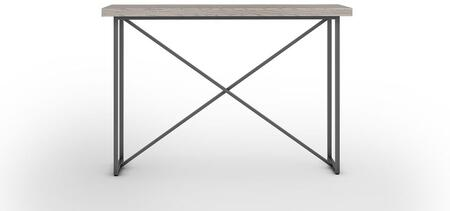 Signature Home Collection FT48ICTCG X Console Table with Textured  Powder Coated Metal Pipe Frame  Thick MDF Top and Easy Assembly in Coastal