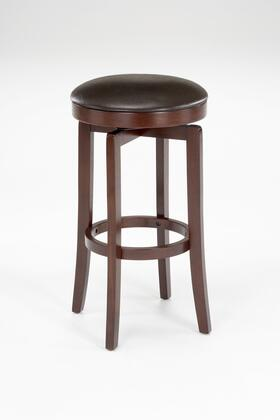 63455-830 Malone 31 Faux Leather Upholstered Backless 360 Degree Swivel Bar Stool with Wood Frame in