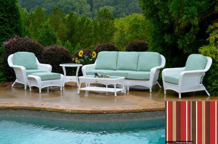 Tortuga Sea Pines LEX651WMONS Outdoor Patio Set White, LEX651WMONS Main Image