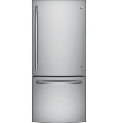 GE  GDE21ESKSS Bottom Freezer Refrigerator Stainless Steel, Main Image