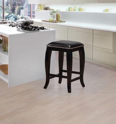 Linon San Francisco CS044BLK01U Bar Stool, CS044BLK01U Scottish Square Top Counter Stool Lifestyle