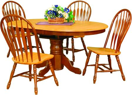 Sunset Trading Sunset Selections DLUTBX42664130NLO5PC Dining Room Set Brown, Main Image