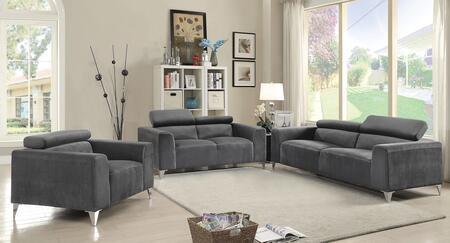 Glory Furniture G333SET Living Room Set Gray, 3 PC Set