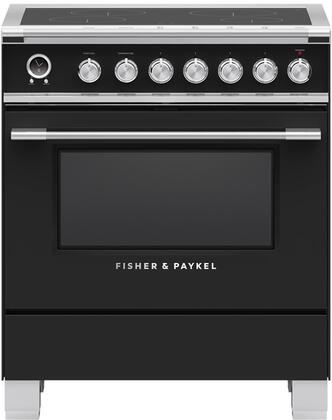 Fisher Paykel Classic OR30SCI6B1 Freestanding Electric Range Black, OR30SCI6B1 Classic Induction Range