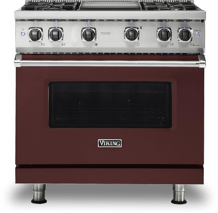Viking 5 Series VGR5364GKA Freestanding Gas Range Red, VGR5364GKA Gas Range