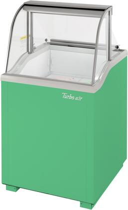 Turbo Air TIDC26GN Commercial Ice Cream Freezer Green, TIDC26GN Angled View