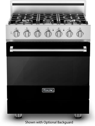 Viking 3 Series RVDR33015BBK Freestanding Dual Fuel Range Black, In Black
