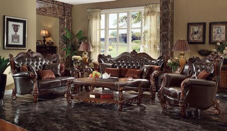 Acme Furniture Versailles 521206PC Living Room Set Brown, 1