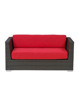 Florida Seating Crystal Beach CRYSTALBEACHSF Outdoor Patio Sofa Red, CB LOVE SEAT WITH RED CUSHION