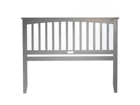 Atlantic Furniture Mission AR287849 Headboard Gray, AR287849 SILO B 180