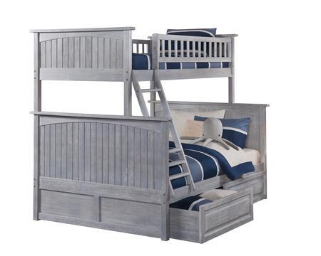 Atlantic Furniture Nantucket AB59228 Bed Gray, AB59228 SILO BD2 30