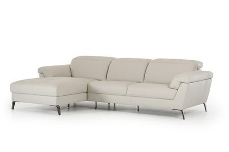 VIG Furniture Divani Casa Edelweiss VGKKKT018GRY Sectional Sofa Gray, Main Image