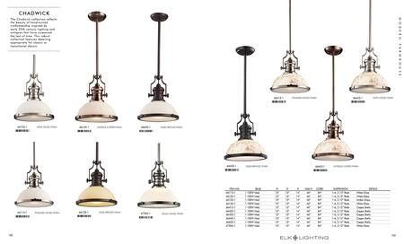 Chadwick 1 Light Pendant In Satin Br