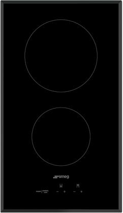 Smeg SEU122B Electric Cooktop Black, Main Image