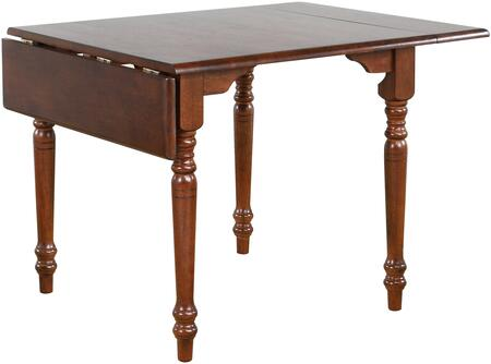 DLU-ADW3448-CT Andrews Collection Dining Table with Drop-Leaf Extension  Wood Construction and Turned Legs  in