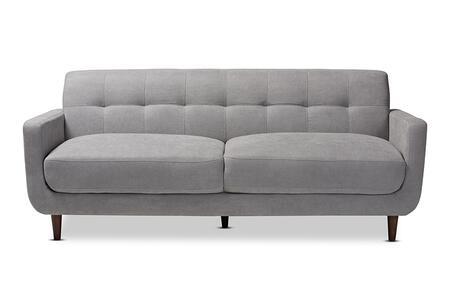 J1453-LIGHTGREY-SF Allister Mid-Century Modern Light Grey Fabric Upholstered