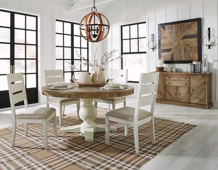 Signature Design by Ashley Grindleburg D75450T50B4SC01B Dining Room Set Brown, Main Image