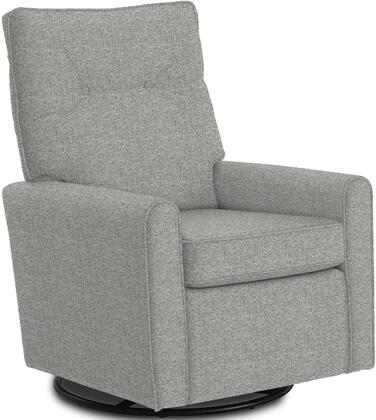 Phylicia Collection 4007-19173 Recliner with 360-Degrees Swivel Glider Metal Base  Removable Back  High Backrest  Zipper Access and Fabric Upholstery
