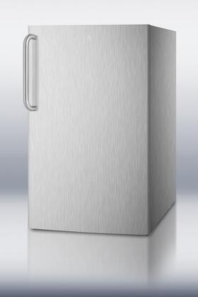 Summit CM421BLBIADA CM421BLXCSSADA Compact Refrigerator Stainless Steel, 1