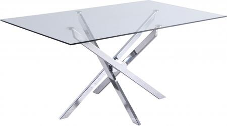 Meridian Xander 901T Dining Room Table Silver, 901T Main Image