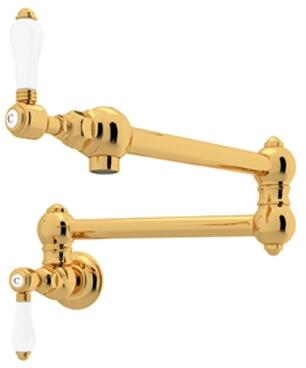 Rohl Italian Country Kitchen A1451LPIB2 Faucet Yellow, Inca Brass