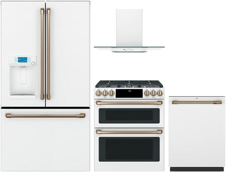 Cafe  1051370 Kitchen Appliance Package Matte White, Main Image