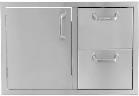 HTX-32-DRDWR 30″ Single Door/2 Drawer Combo in Stainless