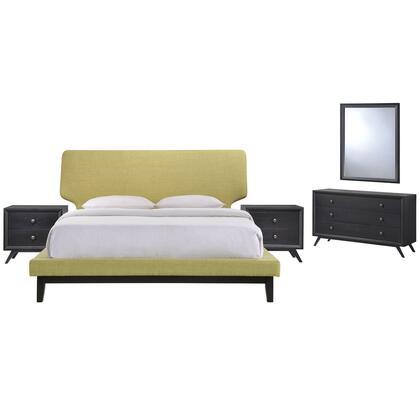 Modway Bethany MOD5337BLKGRNSET Bedroom Set Green, MOD 5337 BLK GRN SET 1