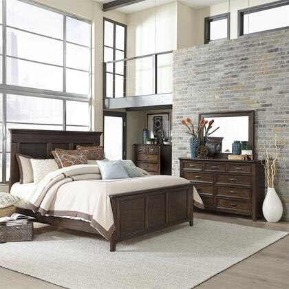 Liberty Furniture Saddlebrook 184BRKPBDMC Bedroom Set Brown, 184-BR-KPBDMC