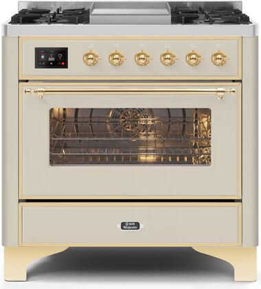 UM09FDNS3AWG 36″ Majestic II Series Dual Fuel Natural Gas Range with 6 Burners and Griddle  3.5 cu. ft. Oven Capacity  TFT Oven Control Display