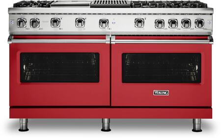 Viking 5 Series VGR5606GQSMLP Freestanding Gas Range Red, VGR5606GQSMLP Gas Range