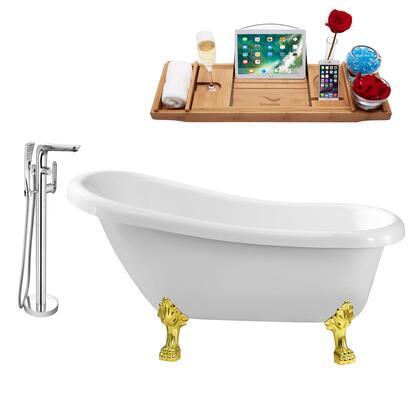 Streamline NH480GLD120 Bath Tub, NH480GLD 120 1T
