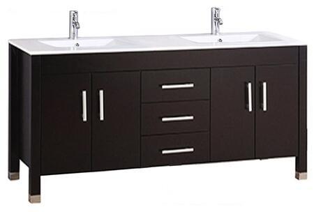 Monaco Collection MTD-8117DE 60″ Double Sink Bathroom Vanity Set in