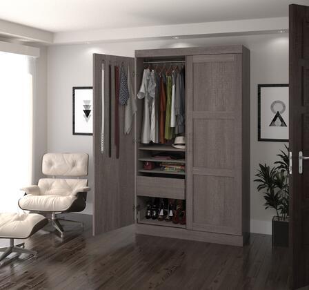 Bestar Furniture Pur Series 2686147 Armoir Gray, Main image