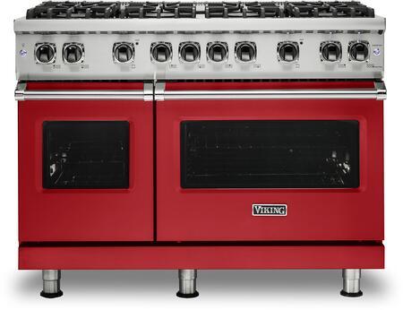 Viking 5 Series VGR5488BSMLP Freestanding Gas Range Red, VGR5488BSMLP Gas Range