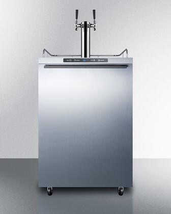 Summit  SBC635MOSHHTWIN Beer Dispenser Stainless Steel, Main Image