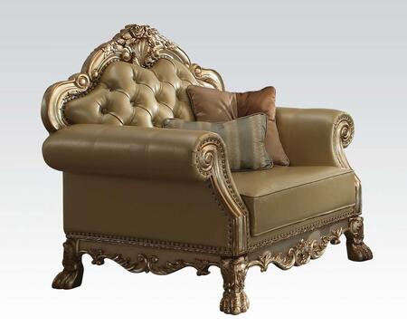 Acme Furniture Dresden 53162 Living Room Chair Gold, Chair