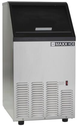 MIM80 17″ Self Contained Ice Maker with 88 lbs. Daily Ice Production  25 lbs. Storage Bin  Full Slab Ice Cubes and Self Cleaning Mode in Stainless