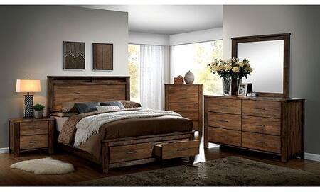 Furniture of America Elkton CM7072QSBDMCN Bedroom Set Brown, Main Image