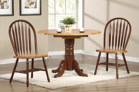 Sunset Trading Sunset Selections DLUTPD4242820NLO3PC Dining Room Set Brown, Main Image