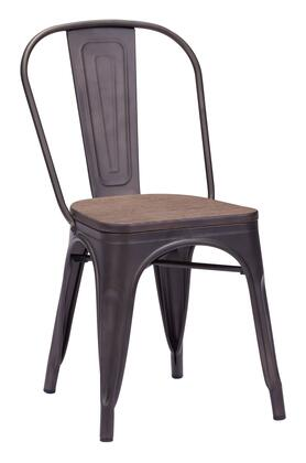 Zuo Elio 108144 Dining Room Chair Brown, 108144 1