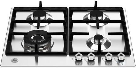 Bertazzoni Professional PROF244CTXVLP Gas Cooktop Stainless Steel, PROF244CTXV Gas Cooktop