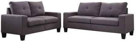 Acme Furniture Platinum II 52735 Living Room Set Gray, 2 PC Set