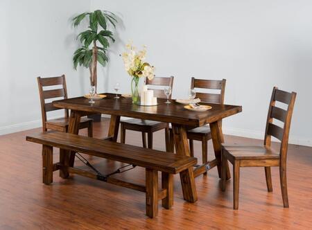 Sunny Designs Vineyard 1380VM Dining Room Table Brown, Main image